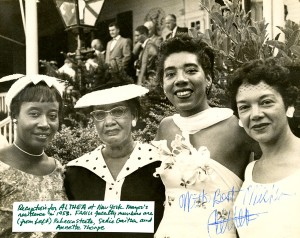 Lf to Rt Rebecca Steele, Sadie Gaither, Althea Gibson, Annette Thorpe/Courtesy State Archives of Florida